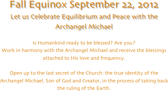 Fall Equinox September 22, 2012
